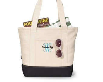 Bridesmaid Large Newport Tote Bag, personalized totes - canvas