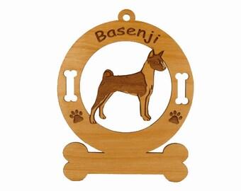 1437 Basenji Standing Personalized Dog Ornament