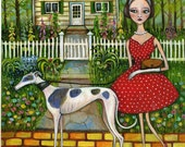 Dog Art - Greyhound -  Print