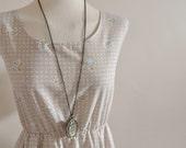 Cream Floral Dress / Vintage Subtle Cream Floral Dress / English Rose Dress