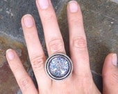 Fairy Dust - glass statement ring