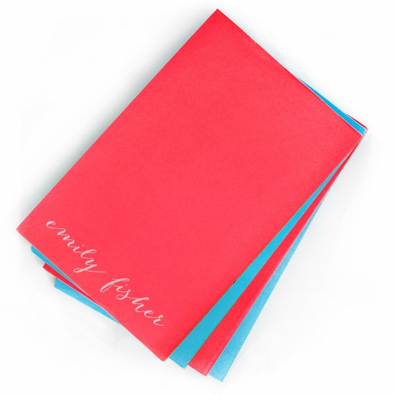Custom Notepads Memo Pads: Items Similar To Personalized Neon Large Note Pad On Etsy