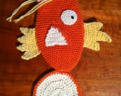 Magikarp Pokemon Crochet PATTERN Drawstring Bag Dice Bag Clutch Purse PDF
