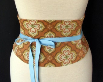 Autumn Colors Tapestry Cotton Waist Cincher Corset Belt B