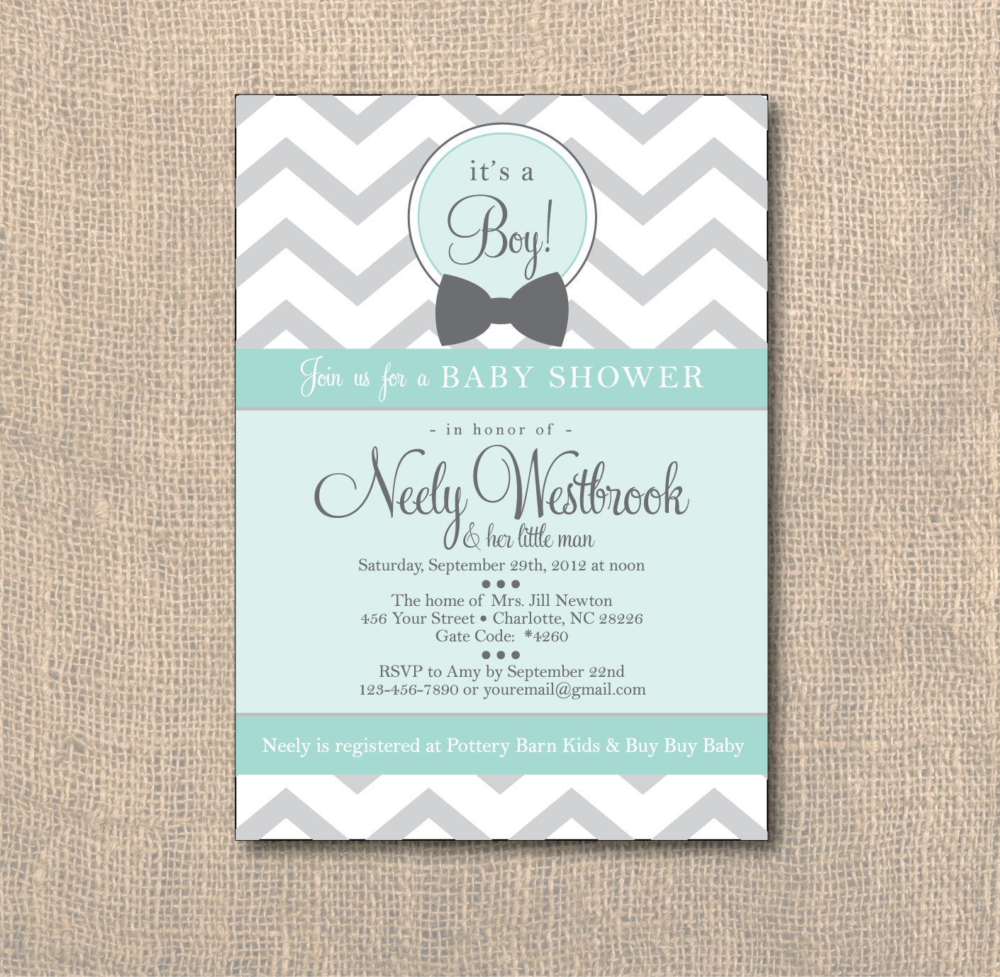 baby shower chevron baby shower invitation little man baby