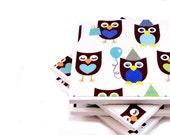 Owl Coasters - Birthday Owls (Set of 4 Ceramic Tile Coasters)