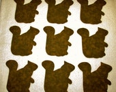 Set of 9  Brown Squirrel Iron-on Sew-on Quilting Clothing Fabric Appliques