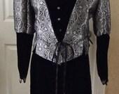 Sale  Black/Silver 4 piece Renaissance Set- Wedding, Costume, etc.  Size large