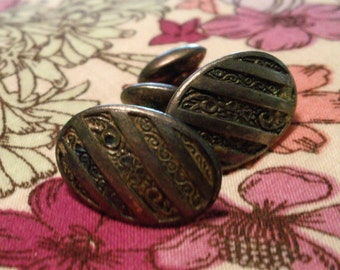vintage cuff links, art deco