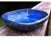 Blue Pottery Cereal Bowl