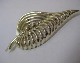 Leaf Gold Modern Brooch Vintage Pin