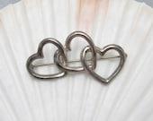 Tiffany Sterling Heart Brooch Jewelry P5804