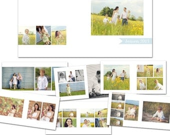Simply Sweet 10x10 Photo Album for Seniors, Weddings, Graduations, Families, Etc.- 11 Files - Photoshop Templates for Photographers - AS8001