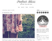 Premade Blogger Template - PERFECT BLISS - Mobile Responsive - Graphic Design - Blog Template