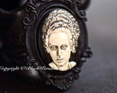 Bride of Frankenstein Black Ornate Victorian Necklace - FREE Domestic SHIPPING