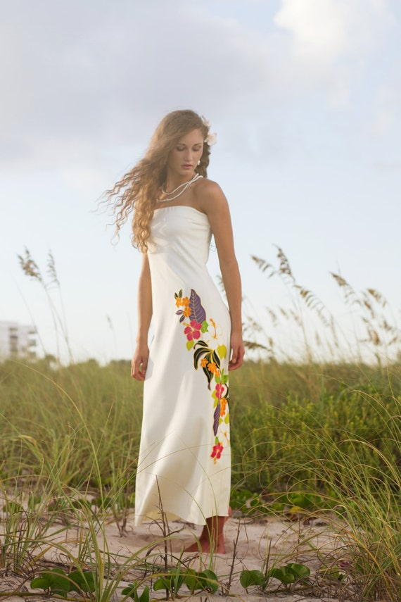 Top selling strapless hawaiian wedding by ishkabibblesdesigns for Hawaiian dresses for weddings