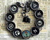 Book Nerd Bracelet Bookish Reader Literary Themed Bibliophile Jewelry
