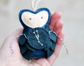 Plush Owl Ornament TAURUS Constellation, Night Sky Galaxy Star Gazer Gift Keepsake, Felt Christmas Ornament Handmade by OrdinaryMommy