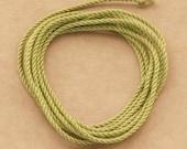 Apple Green handmade silk cord (1mm) – 1 yard/1 metre