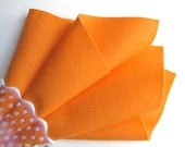 Melon, Wool Felt Square, Choose Size, Felt Sheet, Pure Merino Wool, Craft Felt, Felt Fabric, Orange Felt, Soft Felt, Tangerine