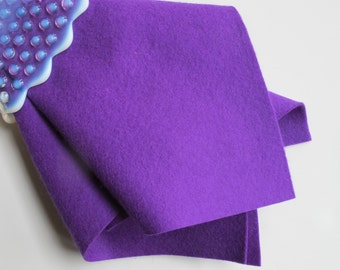 Purple Wool Felt, 100% Wool, Choose Size, Pure Merino Wool, Waldorf Handwork, Needlecraft, Sewing Fabric, Wollfilz, Washable Felt, DIY