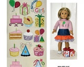 Mini Applique Birthday and Cupcakes Embroidery Design Set