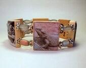 BEARDED DRAGON Bracelet / Lizard / SCRABBLE / Handmade Jewelry / Unusual Gifts