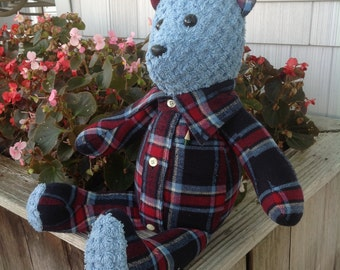 Memory bear Teddy bear from clothes pajama wedding bear from a shirt remembrance rememberance