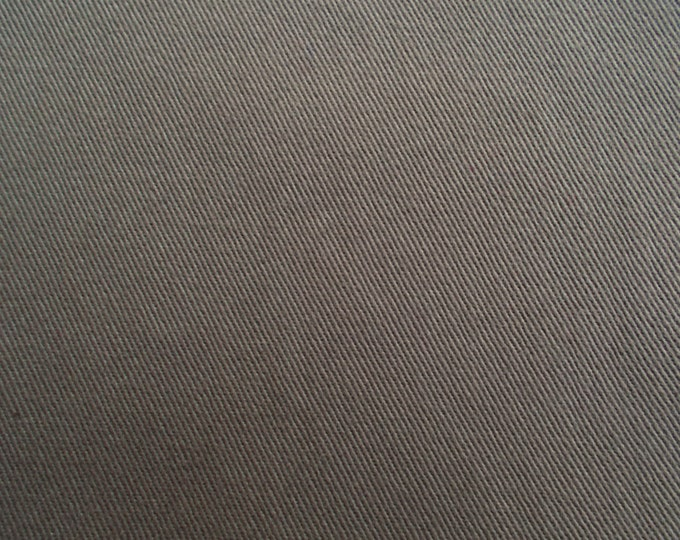 1 Yard Each Pre-Shrunk Cotton Brushed Chino and Washable Velvet Taupe 8.5 oz For Apparel Home Decor Crafts