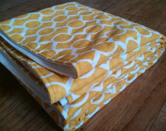 Waterproof PICNIC BLANKET or Baby Play Mat - 60 x 80 - Sunflower Yellow