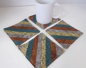 Nature Inspired Fabric Coasters