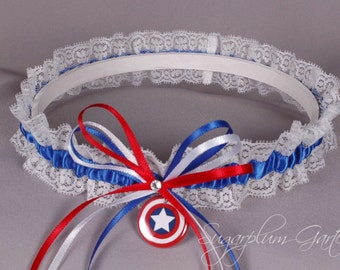 Captain America Lace Wedding Garter