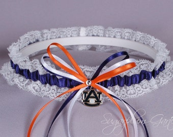 Auburn University Tigers Lace Wedding Garter