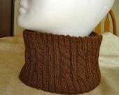 Men's Handknit Neck Warmer in Wool Alpaca