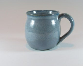 Ceramic Mug - Stoneware Coffee Mug - Blue - Wheel Thrown Mug - Stoneware Mug - Pottery Mug