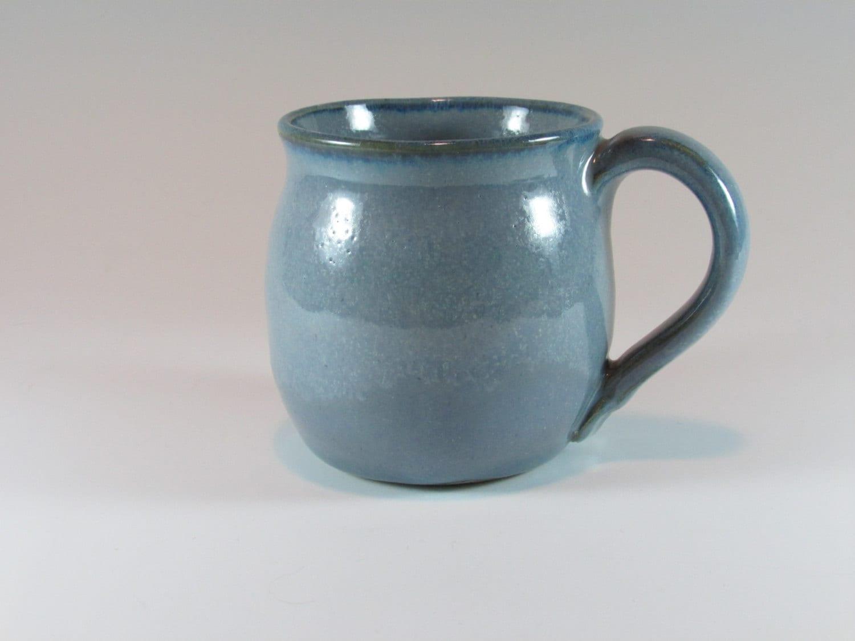 Ceramic Mug Stoneware Coffee Mug Blue Wheel Thrown Mug