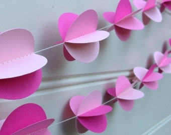 Pom Pom 3D Paper Garland -  Party Decor - Nursery Decor - Baby Shower - Paper Decoration - Choose Your Palette and Length