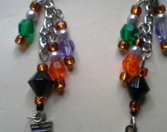 Dangling Witch Boot Earrings