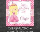 Princess Favor Tags - DIY - Digital FIle - Valentine's Day Tag