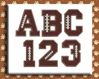 Football Applique Embroidery Font Includes 4 Sizes