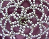 CLEARANCE SALE KIPPAH!!!Beaded women kippah in shades of lavender pearls, clear glass beads and crystals.