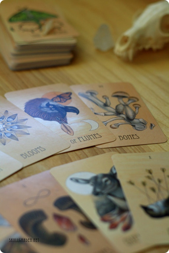 The Wooden Tarot Full Deck Skullgarden