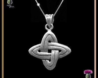 Celtic Four Corners Quatro Pendant - Sterling Silver