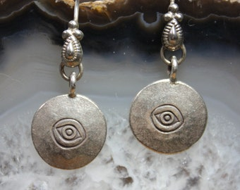 Silver Eye Talisman Earrings