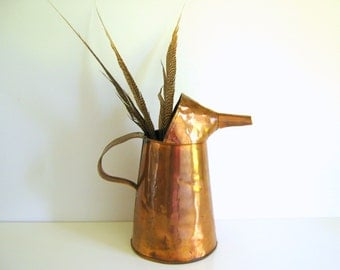 Copper Oil Can Vintage Oil Can with Spout