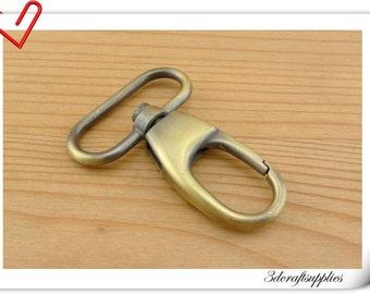 1 inch 25mm (eye size ) Anti brass  purse hook Push gate hook Bolt Snaps hook  6 pieces AC110