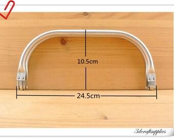 24.5cm ( 9 3/4 inch )  aluminous tubular internal hinge, doctor Bag frame, purse frame   Z84