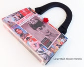 Audrey Hepburn Recycled Book Purse - Breakfast At Tiffanys Book Cover Purse