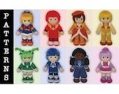 Crochet Pattern Bundle - Amigurumi Color Kids + Rainbow Brite