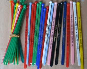 Collection of 50 Vintage Swizzle Sticks